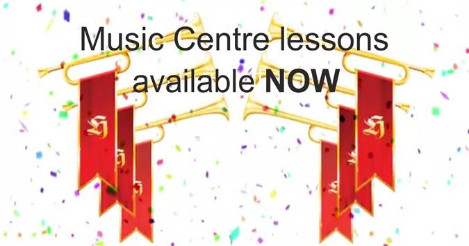 Music Centre lessons now running - online